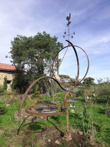 Zonnewijzer in de tuin