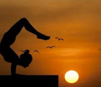 zonsondergang yoga